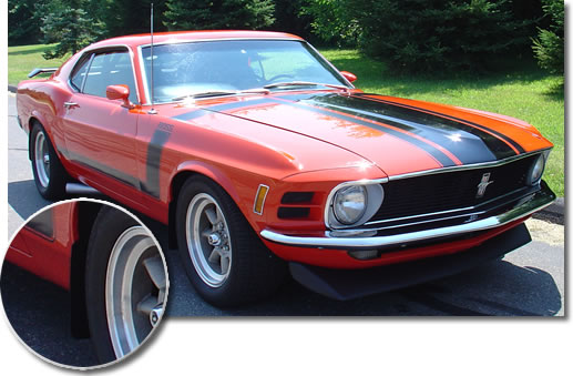 Jflaps Splash Guards on a 1970 Mustang Boss 302