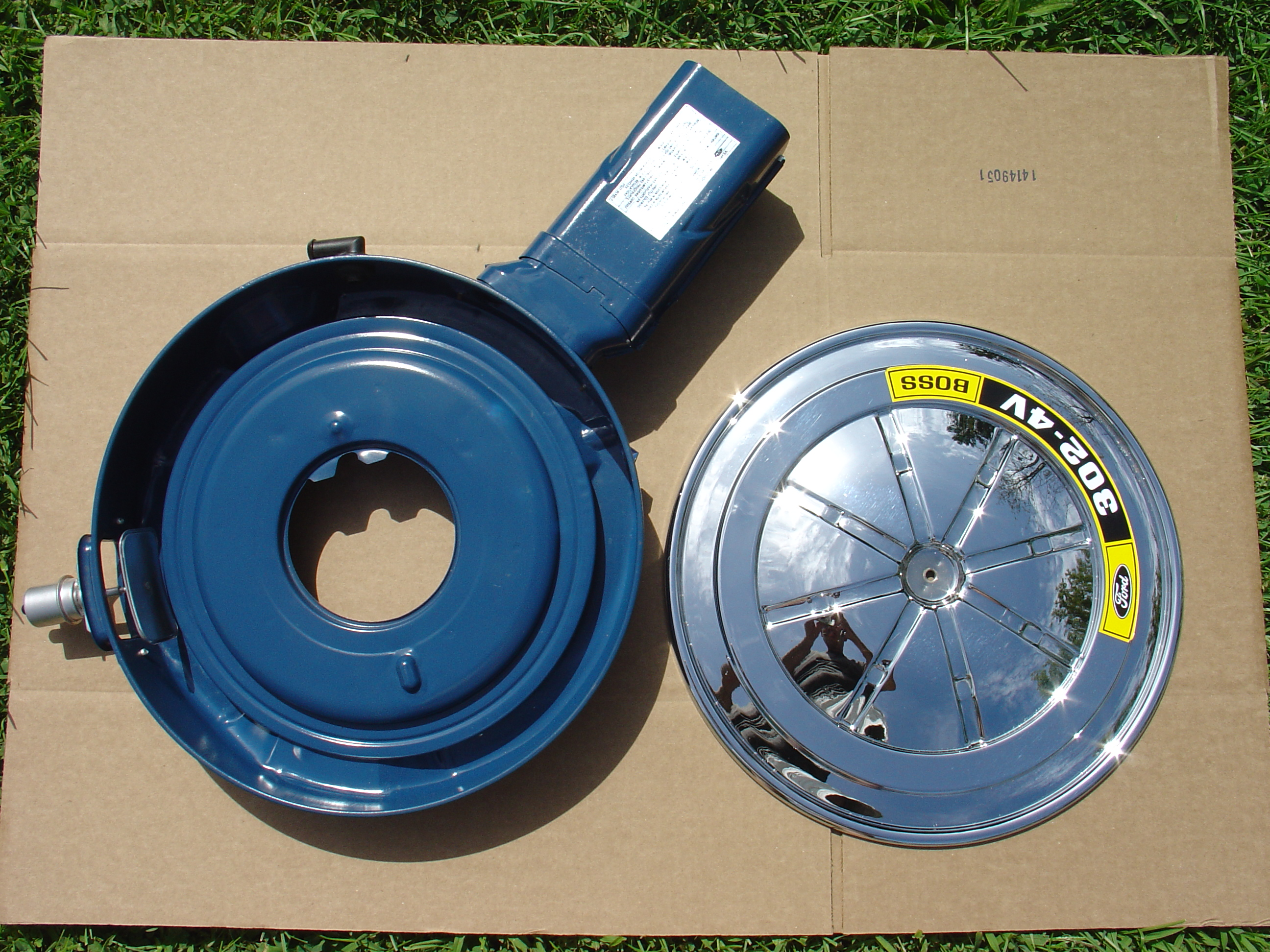 Ford Air Cleaner Assembly : Non shaker air cleaner assembly complete