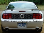 2005-2009 Mustang, Rear Blackout Panel, Vinyl, Metallic Silver