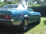 1971 Mustang Convertible. Right Rear , JFlaps (JFM71-A4)