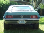 1971 Mustang Convertible. Rear View, JFlaps (JFM71-A4)
