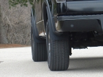 Jaeger Brothers F-150 Stone Guards. Provides extended stone protection farther up the fender than any mud flap.
