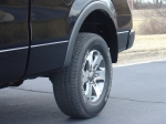 JFlaps on F150, rear fender stone protection that installs in seconds with no drilling and no screws.