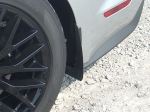 2015 Mustang rear splash guard, from the front.