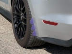 XFlap xWing mud flap, Blue Carbon Fiber graphic